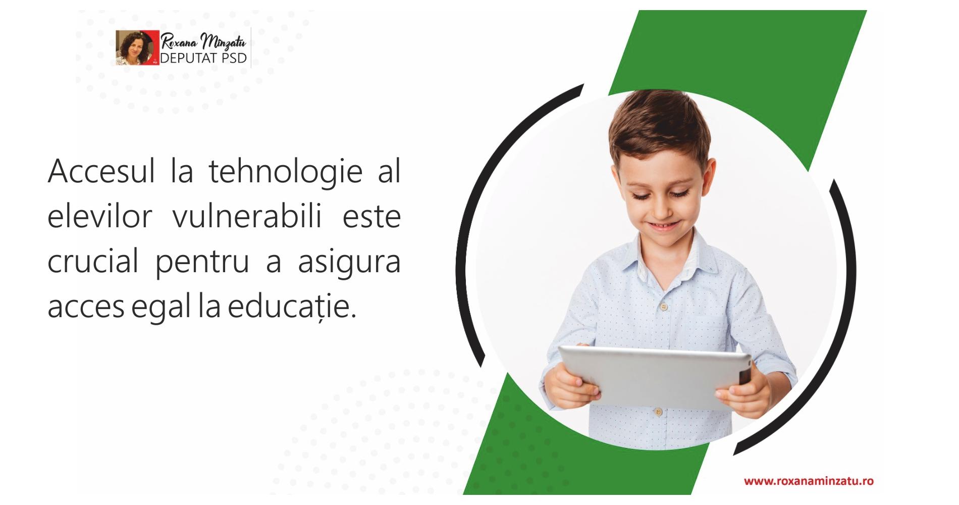 Accesul la tehnologie al elevilor vulnerabili este crucial pentru a asigura acces egal la educație