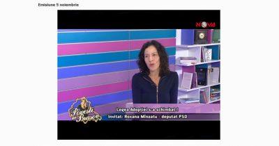 La Nova Press. Cornelia Crevean în dialog cu Roxana Mînzatu despre îmbunătățirea legii adopției