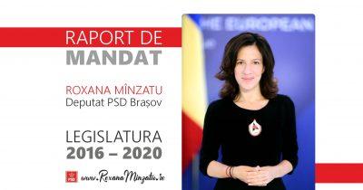 Raport de mandat Deputat Roxana Mînzatu