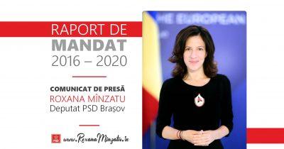 Comunicat de presă: Bilanțul mandatului deputatei PSD Brașov Roxana Mînzatu